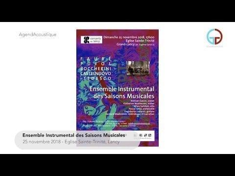 AgendAcoustique – Ensemble Instrumental des Saisons Musicales