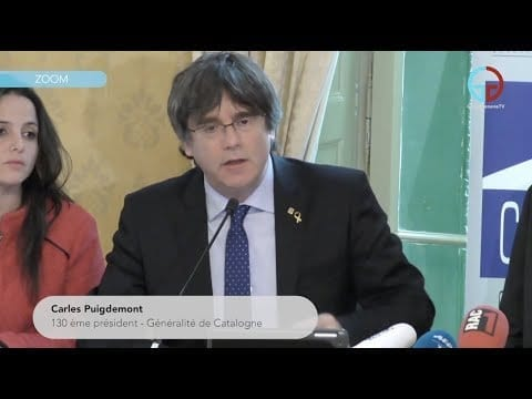 Carles Puigdemont: « On se bat pour l'Europe! »