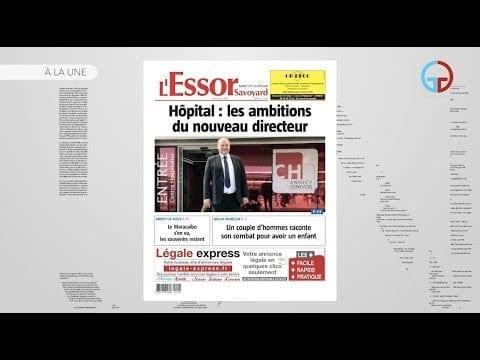 A La Une – L'Essor Savoyard du jeudi 20 juin 2019