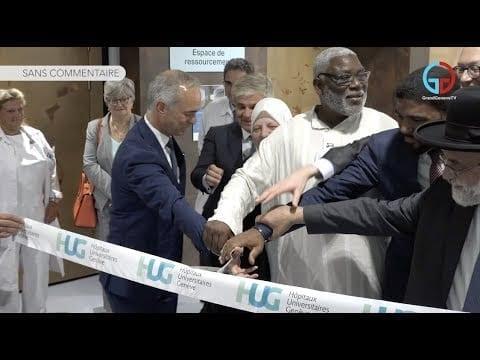 Inauguration de l'espace de ressourcement des HUG