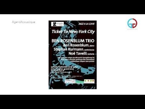AgendAcoustique – Ben Rosenblum Trio